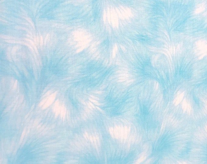 SALE - Airy Whisper, Blue, White, Fat Quarter, 1/2 Yard, Yard, 100% Cotton Fabric, Great for Quilting, Sewing & DIY Crafts