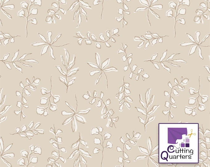 Soften the Volume - Sunbleached Leaves by AGF Studio for Art Gallery Fabrics, 100% Premium Cotton