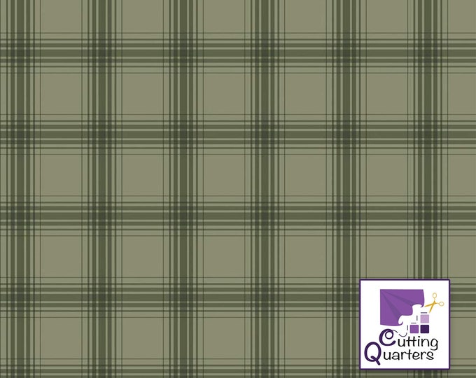 Riley Blake Farmhouse Christmas Plaid Sage by Echo Park Paper Co., 100% Cotton, Great for Quilting, Sewing & DIY Crafts