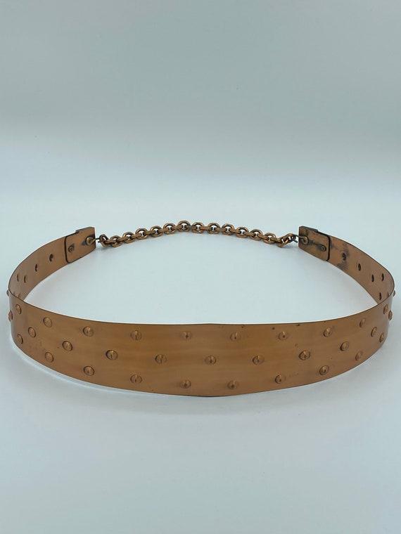 Mid Century Signed Renoir Copper Belt with Hook Cl