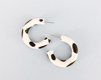 Cow Print Hoop Earrings!