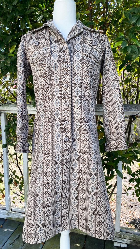 Beautiful vintage 60s Norman Wiatt Knits dress
