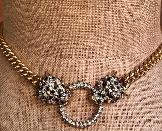 Vintage 1980s Butler & Wilson - Cheetah Necklace
