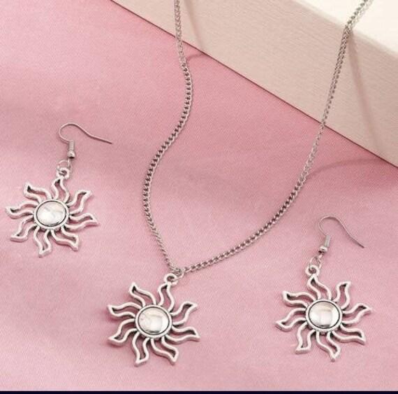Suns earrings bronze summer Jewelry Festival Jewelry Grunge earrings Sun Pendant Bronze Hippie Boho