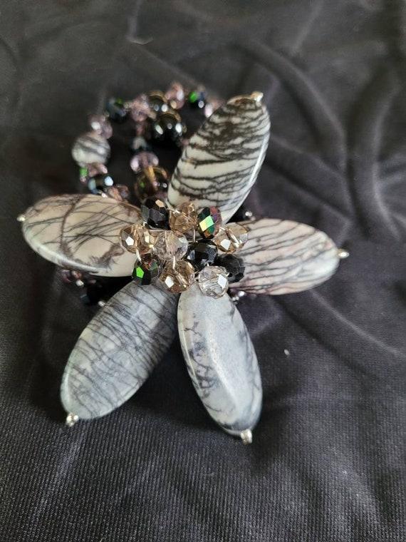 Beautiful Vintage Gemstone Corsage Bracelet | 1980