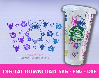 Tropical Flower SVG Starbucks Full Wrap for 24oz Venti Cold Cup Diy Cricut Sihouette