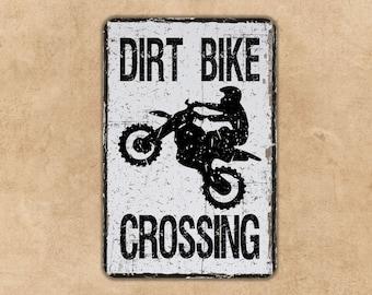 Enduro Motocross Motorcycle Racer Rider Trials Dirt Biker Gift Whoops Sign Whoop Metal Sign Custom Street Motorsport Sign