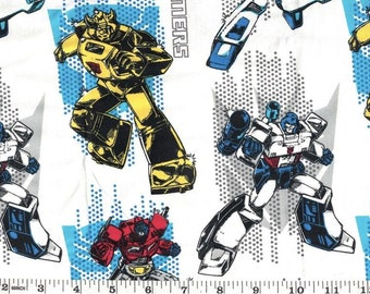 FQ TRANSFORMERS OPTIMUS PRIME  POLYCOTTON FABRIC CHILDRENS CHARACTER