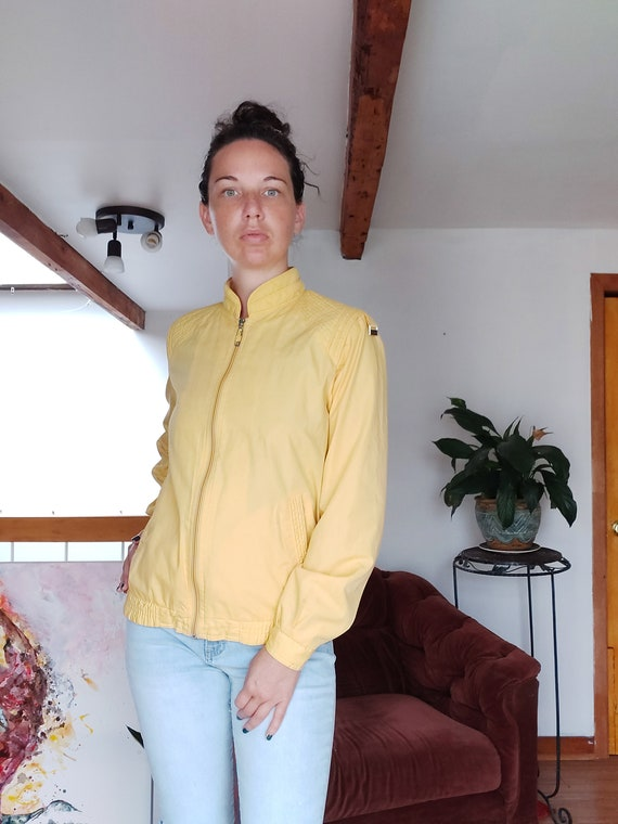 yellow chick jacket, vintage, 1950's