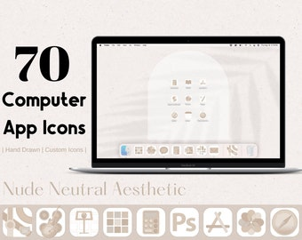 Nude Neutral 1.0 Computer App Icons | 2021 App Icon Covers  | Aesthetic Application Program Icons For Computer, Neutral Tones