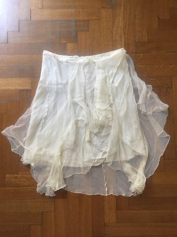 DRIES VAN NOTEN Silk Tulle Skirt - image 1
