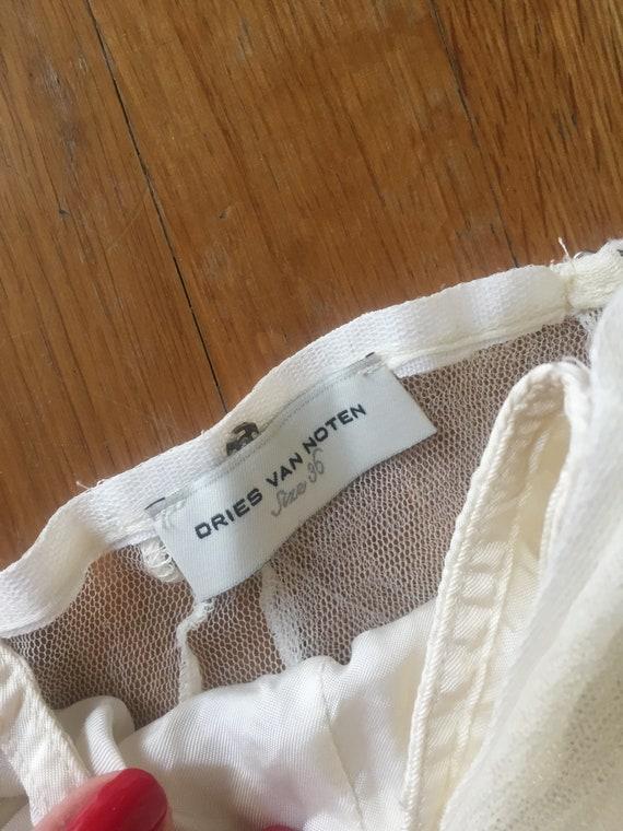 DRIES VAN NOTEN Silk Tulle Skirt - image 4
