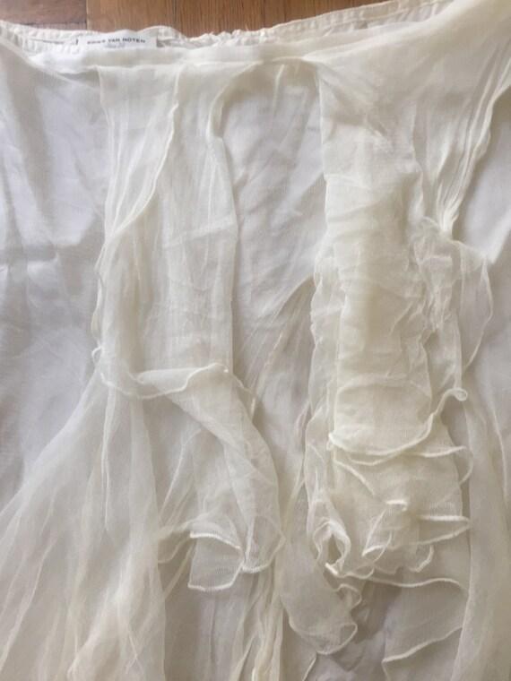 DRIES VAN NOTEN Silk Tulle Skirt - image 2