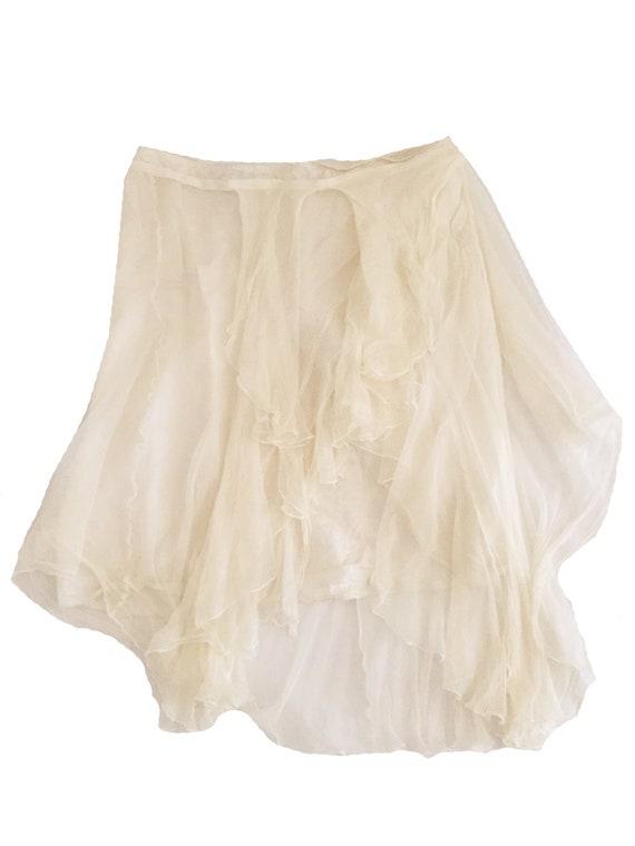 DRIES VAN NOTEN Silk Tulle Skirt - image 3