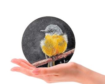 Wall decor Watercolor Painting Birds ORIGINAL Watercolor Eastern yellow robin Bird Art