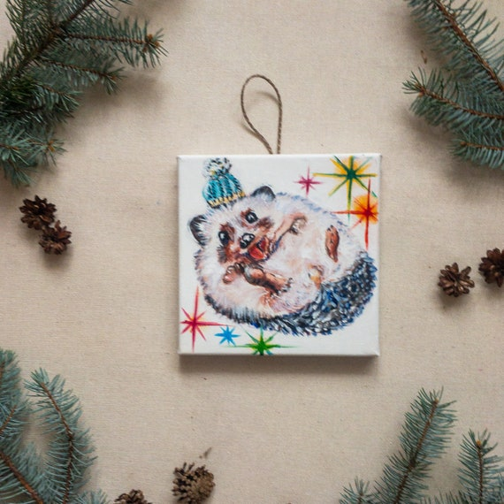 Holiday Decor Christmas Hedgehog Gift For Kids Cute Etsy