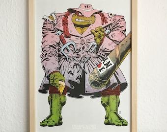 Teenage Mutant Ninja Turtles Movie Poster / Riso Print by Ralph Niese
