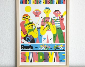 STAND BY ME Movie Poster / Risograph Druck