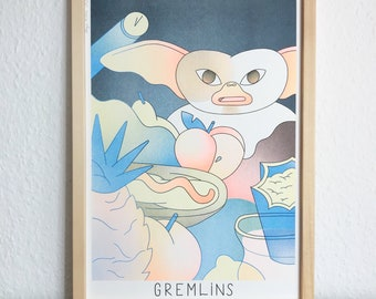 GREMLINS Movie Poster / Risograph Druck