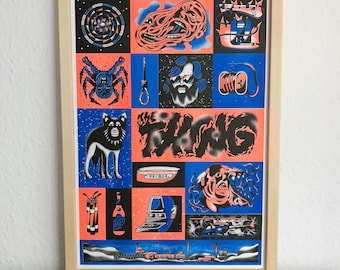 THE THING Movie Poster / Risograph Druck