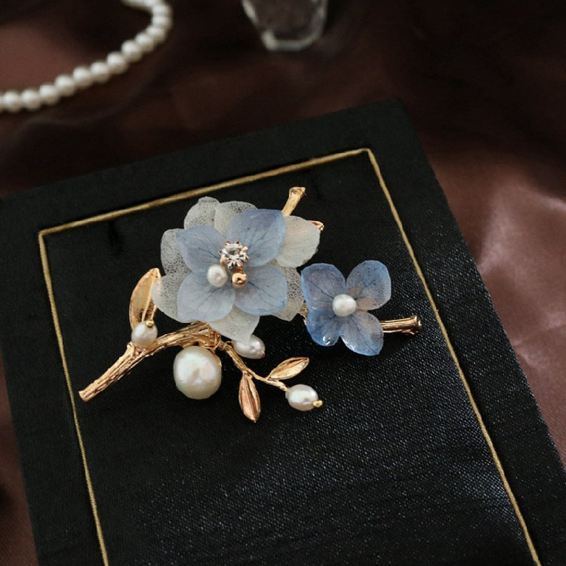 Real Flower Brooch Accessories for Girls and Women Special Birthday Gift for Women Wedding Gift Valentines Gift Anniversary Gift