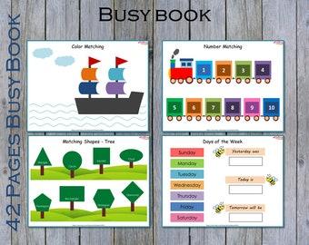 Busy Book, Toddler Learning Binder, Pre K Busy Book, Printable Toddler Busy Binder, The Mega Digital Bundle, Preschool Activity Binder
