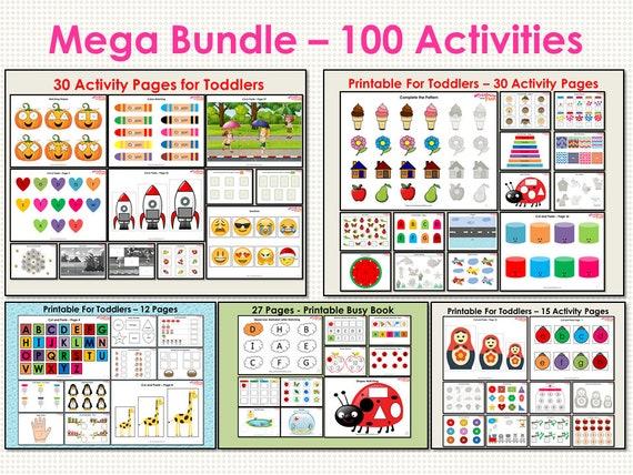 Busy Book Mega Bundle for Toddler Preschool Mega Busy Book