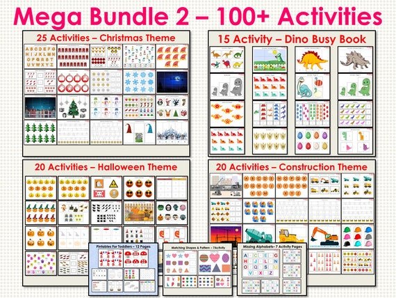 Busy Books Mega Bundle for Toddlers and Preschooler Mega Busy