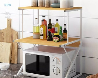 2 Tiers Microwave Oven Rack Holder