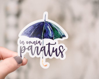 In Omnia Paratus Vinyl Sticker, Gilmore Sticker, TV Show Sticker, Rory Gilmore Decal, Gift For Her, Life And Death Brigade