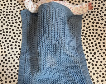 Hand Knitted Cable-style blanket