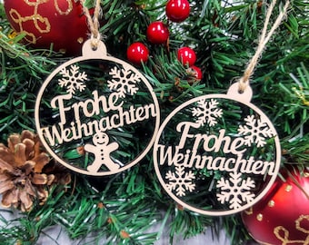Festive Multi-language Language Christmas Ornaments  Buon Natale  Frohe Weihnachten  Nollaig Shona Duit  Feliz Navidad  Mele Kalikimaka