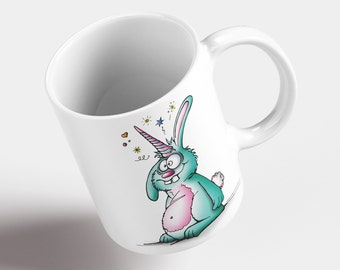 Cup The Unicorn Hasi. Motif cup made of ceramic. Cup. Coffee. Tea. Cup. DoodleBeeArtwork.