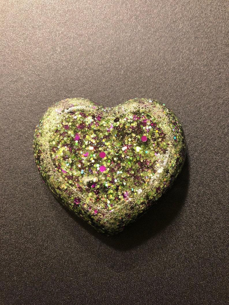 Heart resin trinket dish
