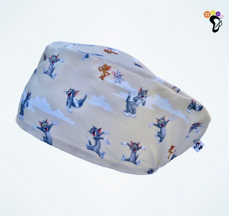 Nurse Surgical Cap Tom/&Jerry OR Hat Scrubhat, Veterinary Hat Dentist Accessories Nursing and Midwife Gifts