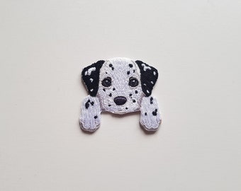 ID 2850 Lot of 3 Tiny Dalmatian Patch Dog Puppy Embroidered Iron On Applique