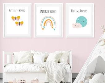 Make a Wish Cloud Picture Artwork for Holiday Gift Kids Children Nursery Baby Newborn Room CYV040 Cute Kawaii Art Digital Print