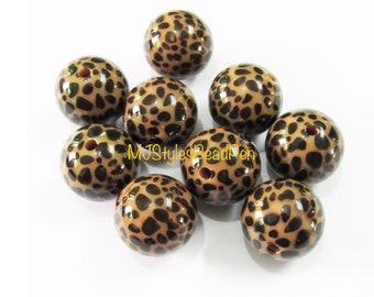 20mm Giraffe Print Chunky Bubblegum Beads 20 pc