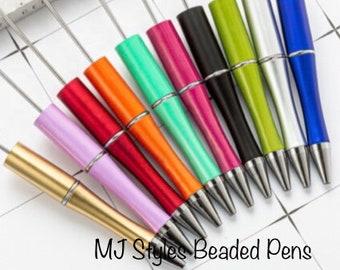Metal Beadable DIY Pens Waterdrop Top Bead Pen Blank