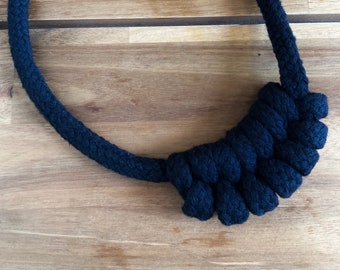 Black Rope Necklace Small