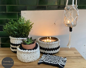 Knitted Rope Basket