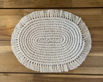 Oval Macrame Table Mat