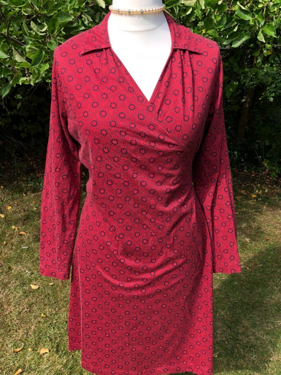 Rare Laura Ashley Armoire red wrap dress - Made in