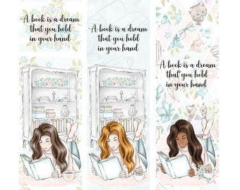 A Book is a Dream That You Hold in Your Hand   Choose Your Person   Book Lover Bookmarks * Reading * Books