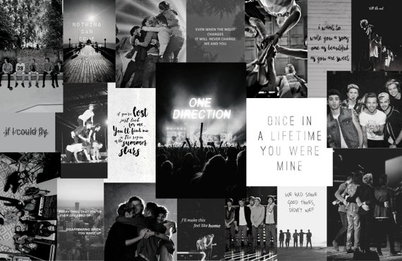 One Direction Aesthetic Computer Wallpapers Colored And B W Etsy