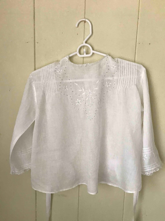 Vintage Blouse, Gibson Girl, White, cotton,