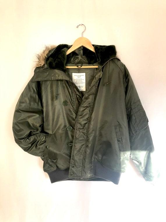 Vintage army winter parka, vintage army jacket, vi