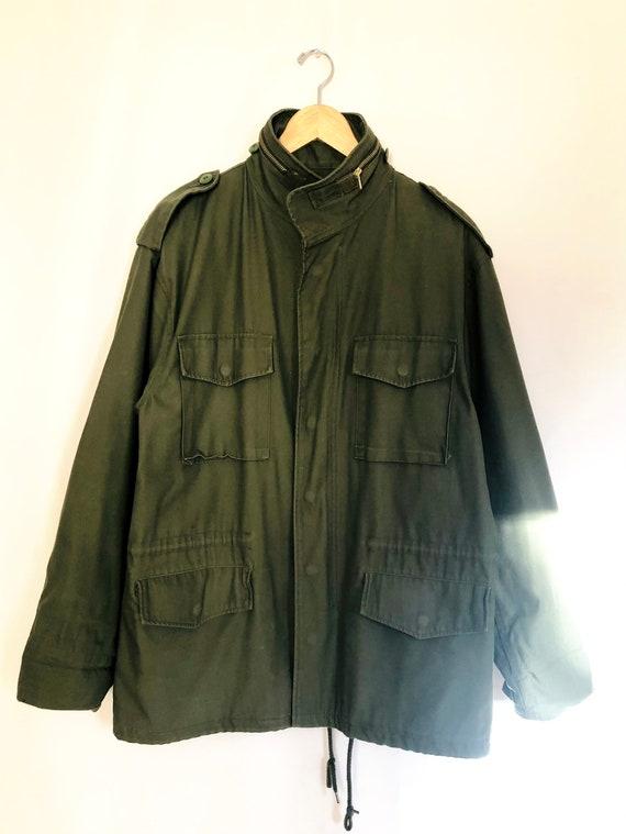 Vintage M65 field jacket with liner, vintage army… - image 2
