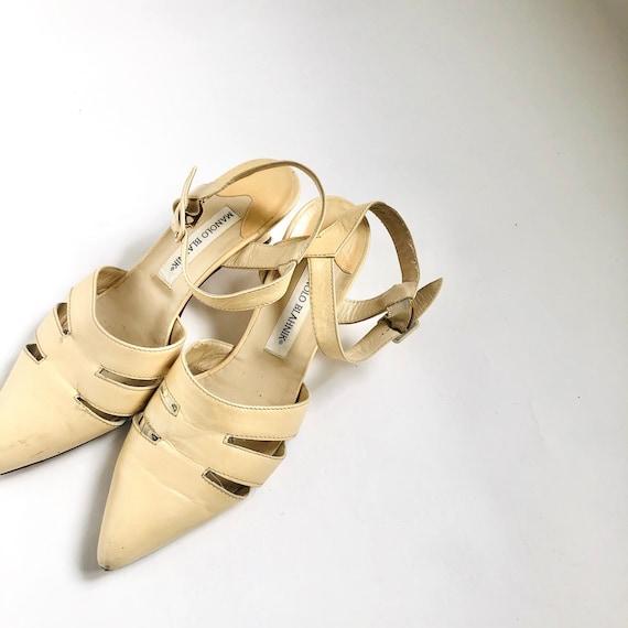 Vintage Manolo Blahnik Shoes, vintage sandals, vin