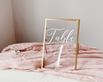 Framed Table Numbers Etsy